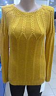 Женский красивый свитер цвет горчица размер 42-44