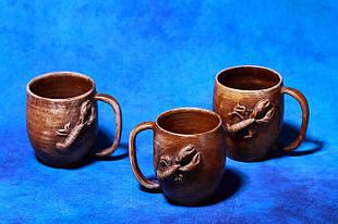 Чашки из глины.