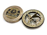 Часы солнечные с компасом бронзовые