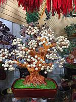 Дерево счастья из белого жемчуга 25 см