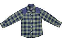 Рубашка для мальчика теплая 128, 140 Турция