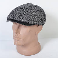 Мужская кепка пятиклинка под кашемировое пальто на зиму с ушками - Модель 29-568