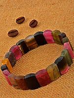 Модный браслет из натурального камня турмалин