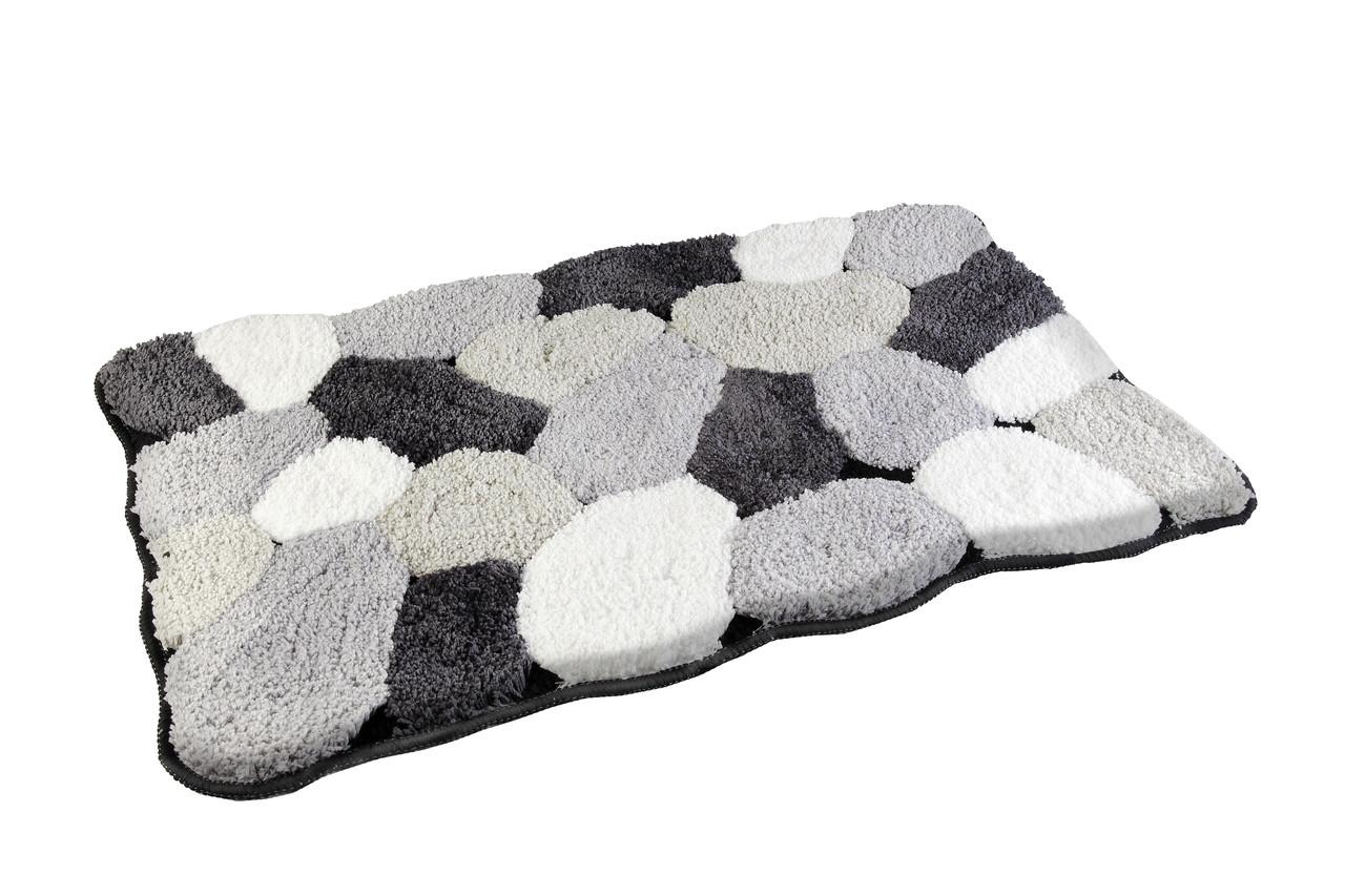 Коврик для ванной комнаты из микрофибры 50*80 серые камни AWD02160779