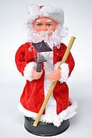 Дед Мороз с фонариком музыкальный 25 см.
