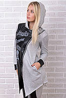 Брендовый гламурный зимний спортивный костюм Турция XS S M L XL XXL 50 52 54 серый