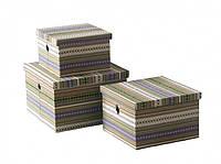 Короб текстильний с кришкою Lines 30x30x19 cм