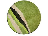 Коврик для ванной комнаты из микрофибры Ø60 круглый салатовый AWD02160916