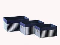 Короб Полосы синий 36x27x18см
