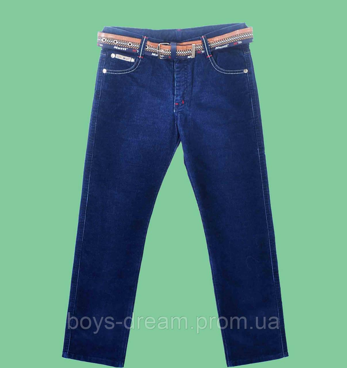 Вельветовые синие брюки для мальчика Musti (Турция) (158,164)