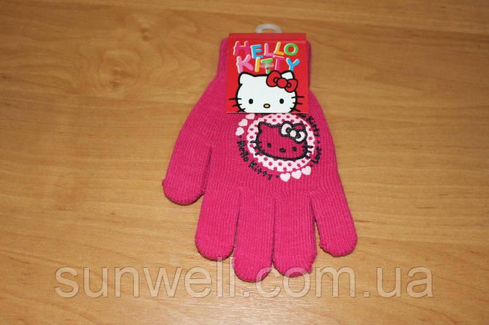 Перчатки для девочек Hello kitty ТМ Sun City, 15см, фото 2