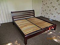 Кровать двуспальная из массива ясеня Венге