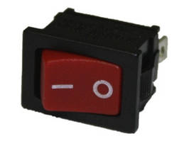 Кнопка GY5 -2004 шир. 4конт. с подсв. красная