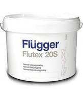 Латексная водоэмульсионная краска для стен Flugger Flutex 20S, ведро 10 л