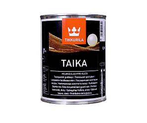 """Лазурь """"перламутр"""" TIKKURILA TAIKA LASUR золотистая-база KL 0,9л"""