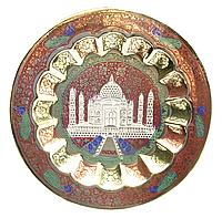Тадж-Махал тарелка бронзовая настенная