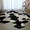 Кожаные ковры, ковер соты, ковры из шкуры, ковер из шестиугольников, ковры неправильной формы