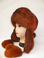 Меховая зимняя шапка ушанка