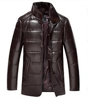 Мужская зимняя дубленка, натуральная кожа,мех Модель 951