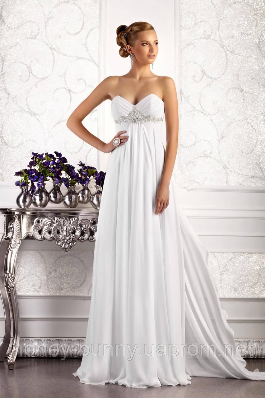 Прокат 3780 грн.  Свадебное платье в греческом стиле, со съемным шлейфом «Встреча с музой»