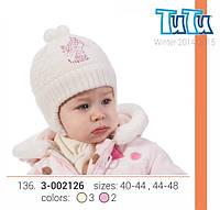 Шапка для девочки TuTu арт. 64.3-002126(44-48)
