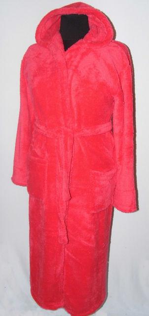 Длинный халат из качественной махры