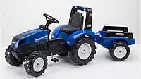 Трактор на педалях с прицепом Falk NEW HOLLAND T8 синийFalk
