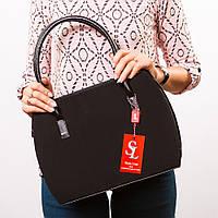 Женская замшевая сумочка овальной формы