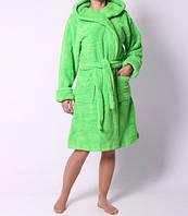 Махровый халат средней длинны качественный