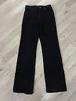 Джинсы мужские вельветовые классические прямые чёрные