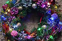 """Новогодний и рождественский венок """"Милые бабочки """""""