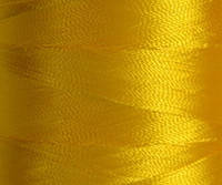 Нитка шелк для машинной вышивки 120D/2(3000ярд)Желтый.