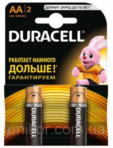 Батарейки LR6 (AA) alkaline. DURACELL