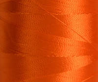 Нитка шелк для машинной вышивки 120D/2(3000ярдо) Оранжевый ярк.