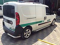 Fiat Doblo III nuovo 2010+ и 2015+ гг. Боковые площадки Line (2 шт., алюминий) Стандартная база