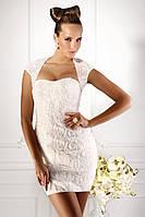 Короткое свадебное платье (без болеро) «Город цветов» (продажа, напрокат)