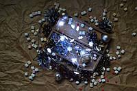 """Новогодняя гирлянда на батарейках """"Нежные снежинки"""""""