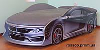 Кровать машина BMW серебро