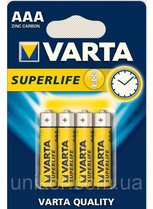 Батарейки LR3 (AAA) zink-carbon. VARTA