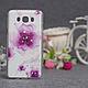 Силиконовый бампер для Samsung J710 Galaxy J7 2016 с принтом Цветы 79, фото 5