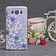 Силиконовый бампер для Samsung J710 Galaxy J7 2016 с принтом Цветы 79, фото 9