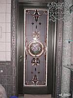Амфора витраж Тиффани в дверь