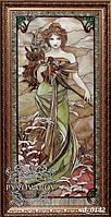 Витраж картины Альфонса Мухи по технике Тиффани