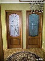 Витраж Тиффани в двери детских комнат