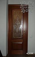 Витраж Тиффани в двери спальни