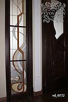 Витраж Тиффани в сочетании двери с перегородкой