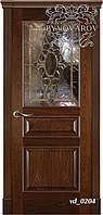 Витраж Тиффани с фацетами в межкомнатную дверь