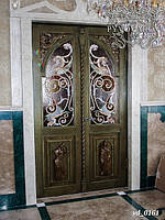 Витражи Барокко в распашные входные двери