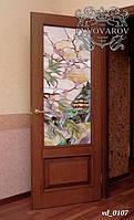 Витражи Тиффани в японском стиле в межкомнатные двери