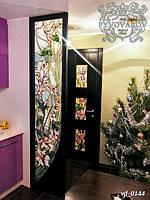 Комплект витражей ирисы Моне в двери и в перегородку